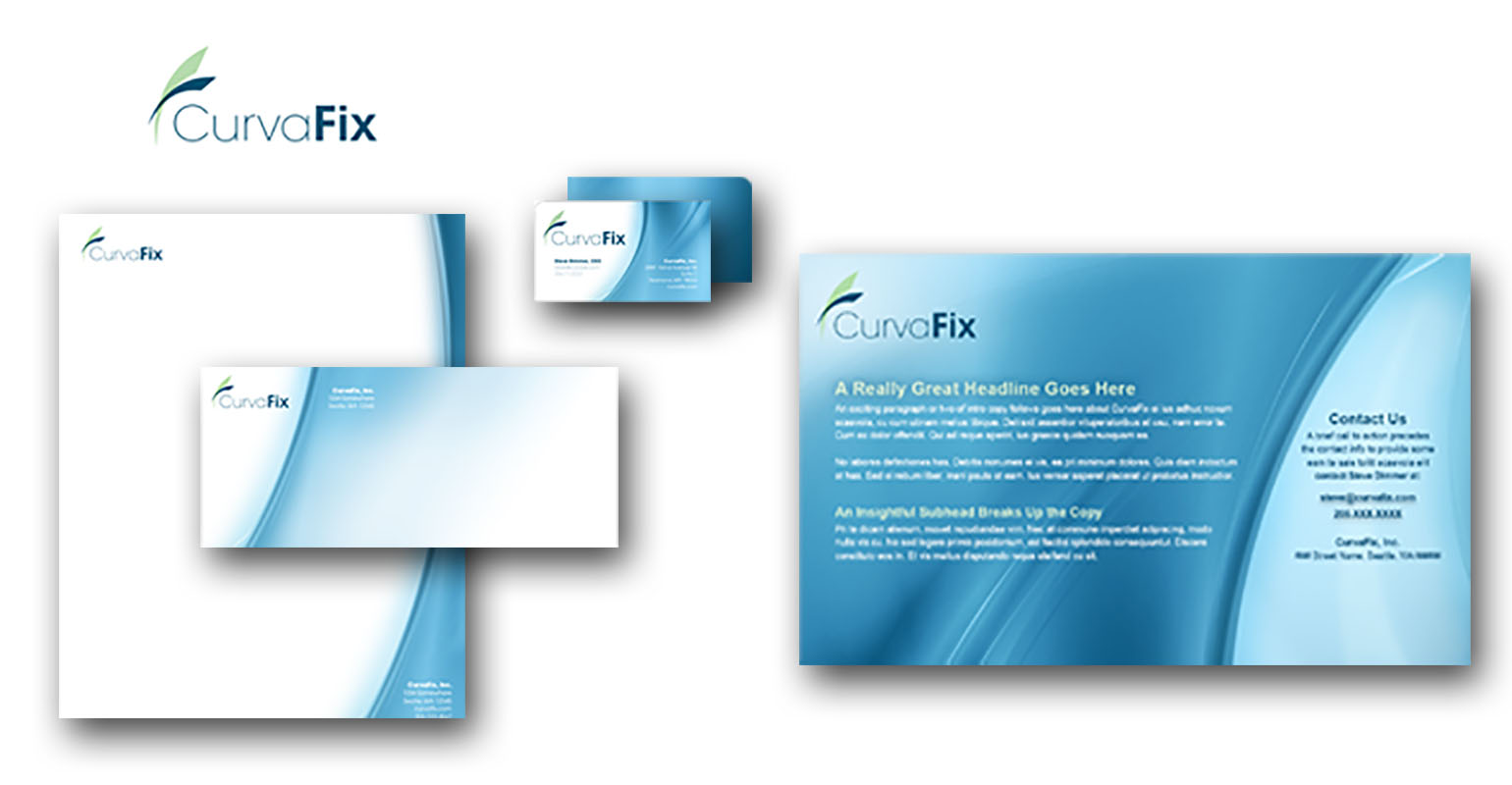 print campaign created for CurvaFix, Inc. by airt group